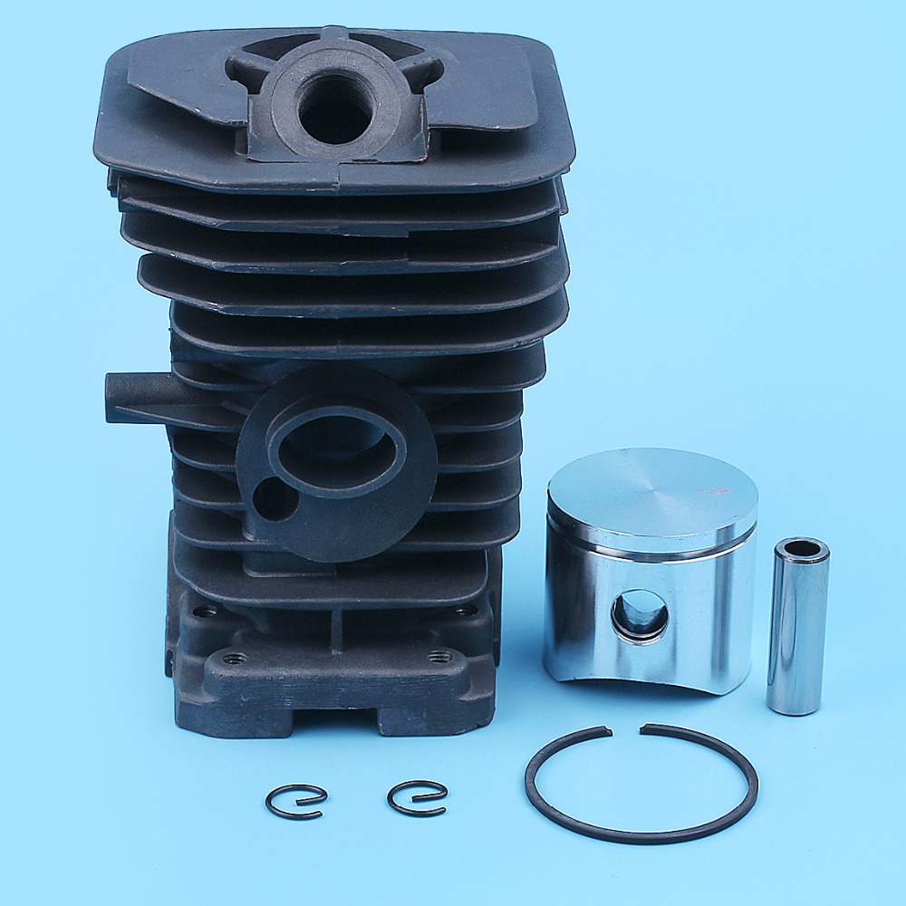38mm Cylinder Piston Ring Assembly Kit For Husqvarna 136 137 141 142 Chainsaw Nikasil Plated Replacement Parts 530 06 99 40