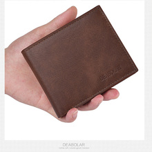 Carteira mens wallet brand luxury leather mature double-fold purse