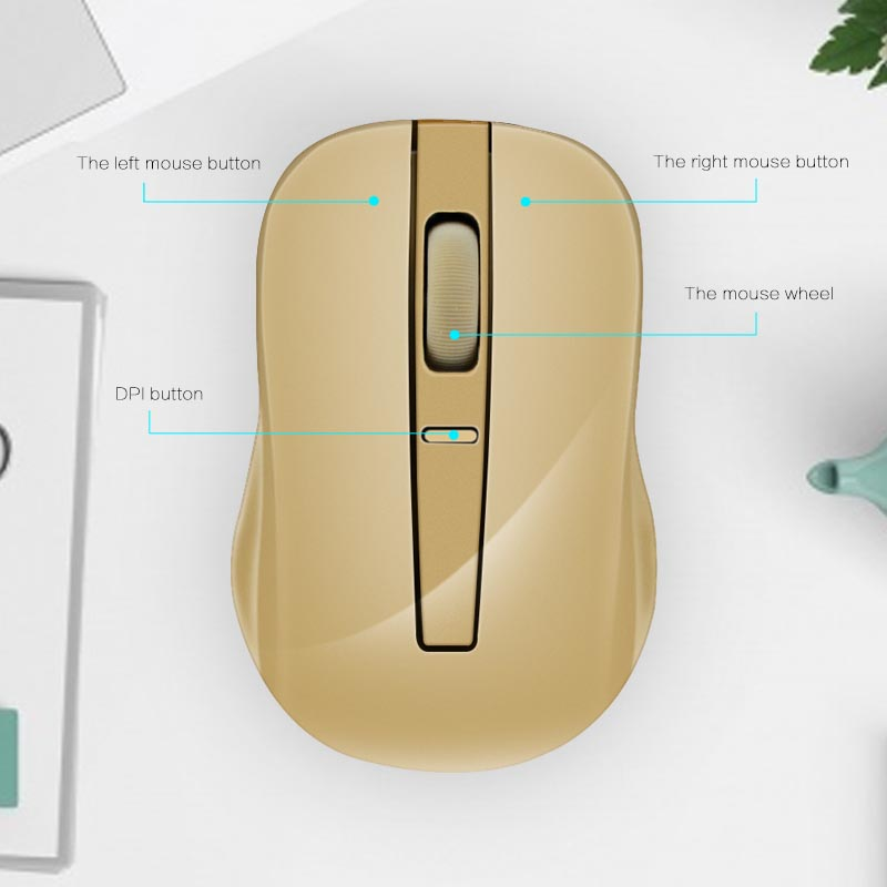 2.4GHz Wireless Mobile Mouse With USB Receiver Adjustable DPI Computer Laptop PC Optical Mice HJ55