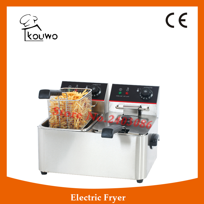 KOUWO Commercial Cooking Appliances Table Top Electric Fryer KW-4L.2 salter air fryer home high capacity multifunction no smoke chicken wings fries machine intelligent electric fryer