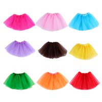 Baby Girls Skirt Translucent 3 Layer Net Yarn Children Skirt Candy Colors Girl's Ball Gown Tutu Skirts New Children's Clothing