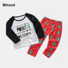 Kimocat одежда для маленьких девочек 2 шт Весенняя детская повседневная
