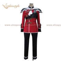 Kisstyle Fashion Final Fantasy Type 0 Trey Formal Uniform RED COS Clothing Cosplay Costume,Customized Accepted