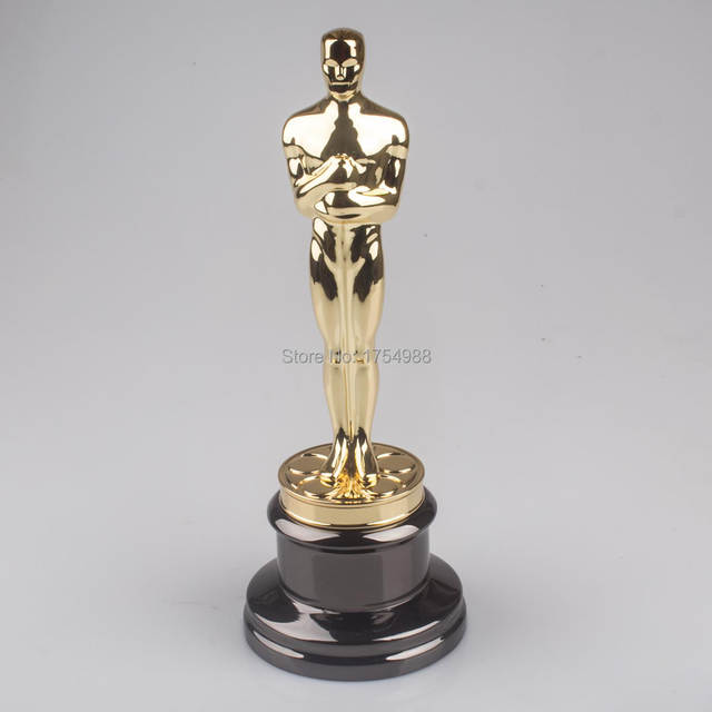 34CM Original Size Oscar Statuette Trophy Award Metal Scale Replica Music  TV Movie Fans Souvenirs