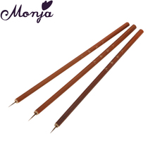 Nail Art Line Flower Paint Drawing Dotting Brush Weasel Fiber Hair Wooden Pro Acrylic UV Gel Polish Tips 3D Design Manicure Pen