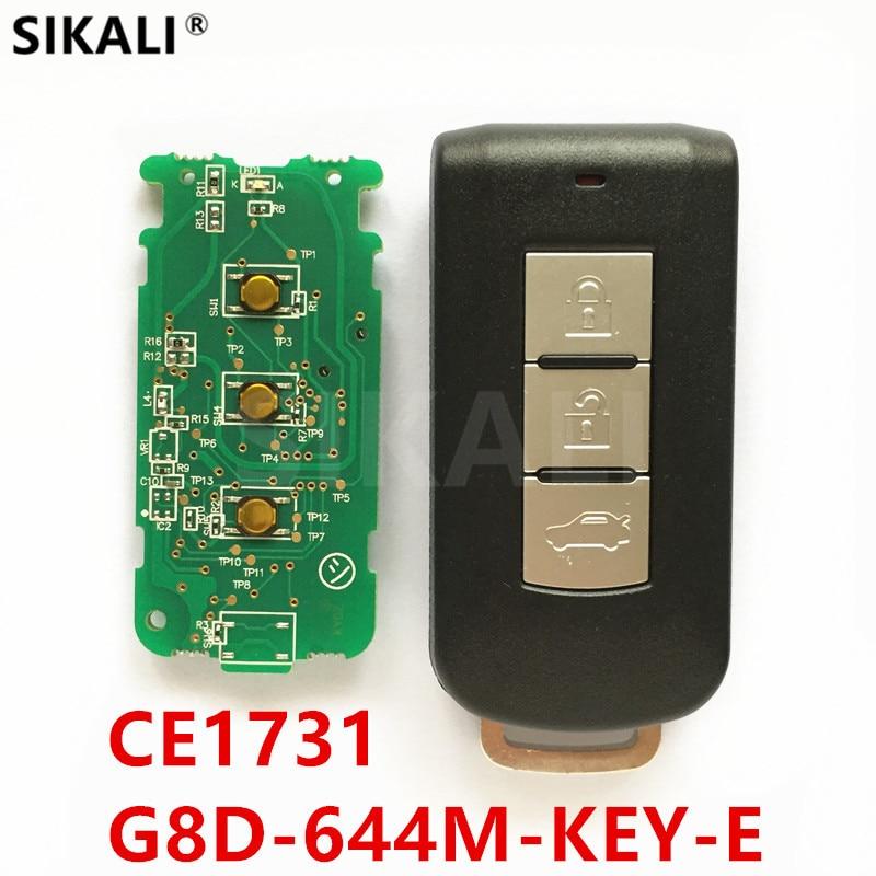 3 Buttons Remote Smart Key for G8D-644M-KEY-E 433MHz for ASX Outlander Sport Pajero Shogun Montero Lancer RVR Savrin Car