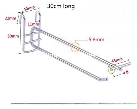 100 unidades pacote 30 cm de comprimento 6mm de diametro gancho de bloqueio de