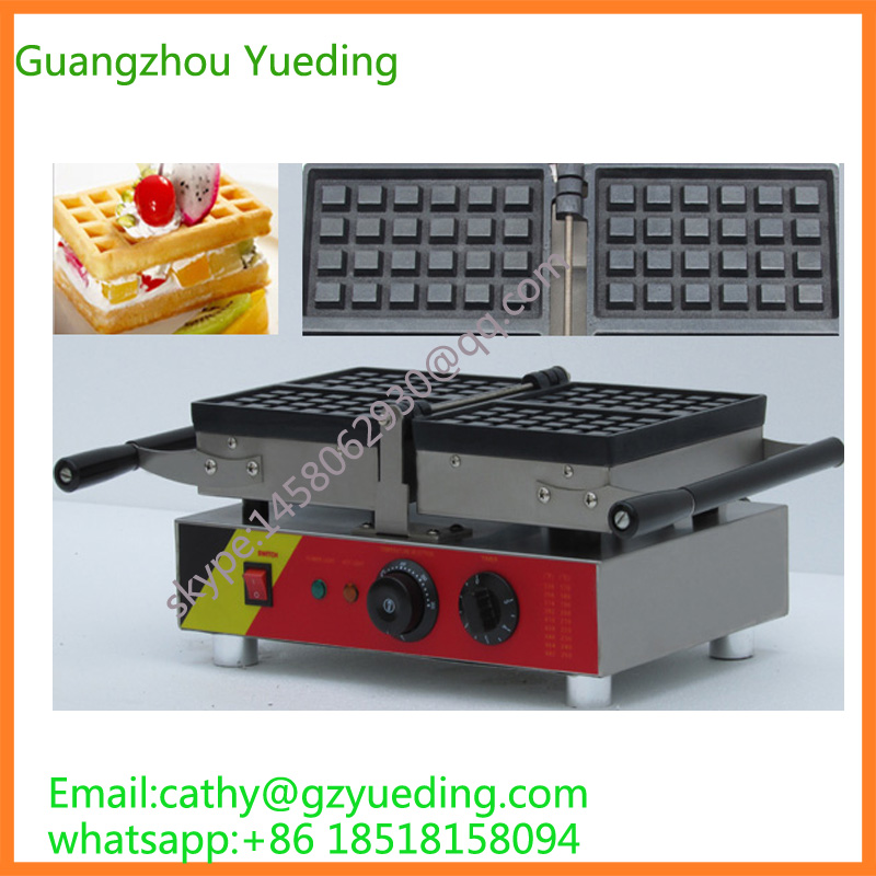 Hot Sale 180 Degree Turntable 110v 220v Electric Liege Swing Belgian Waffle Maker Machine Baker 110v 220v electric belgian liege waffle baker maker machine iron page 3