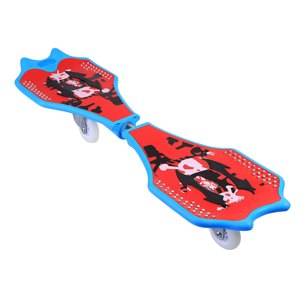 New 2 wheels Skateboard kids scooter Child Caster Board Plastic Deck Skateboard With Light Up Wheels with Carrying Bag