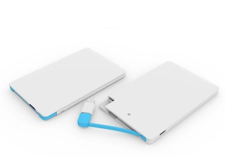 A Ultra Thin Credit Card Power Bank 2600mah Micro Usb Cable Pocket
