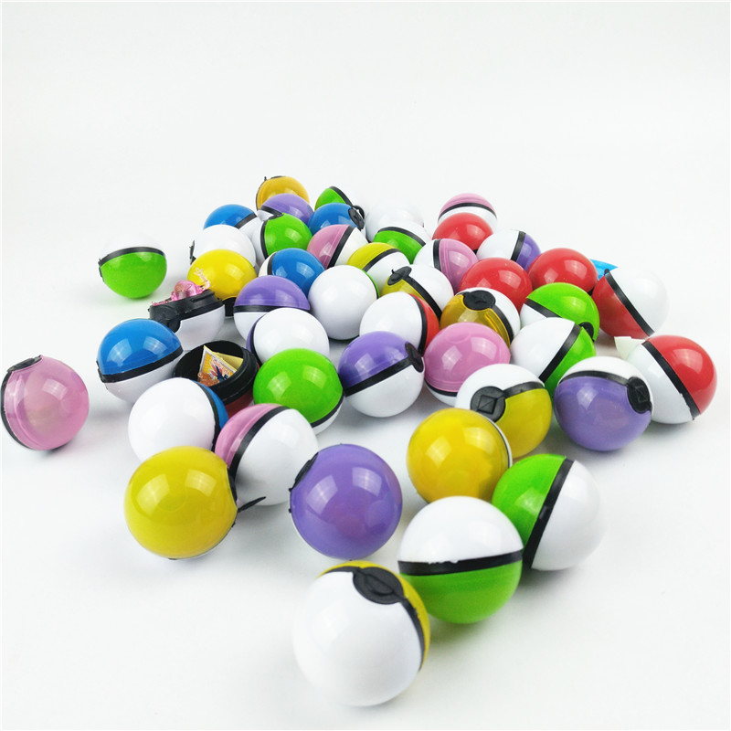 100pcs/lot Multicolor PokeBall Toys Crystal Pet pokebolas Poke Action Figure Pikachu figure Stickers Game Ball