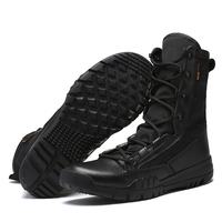 New Outdoor Sports Tactical Men Boots Hiking Boots High Top Leather Hiking Shoes Mens Army Combat Boots Mountain Trekking Shoes