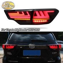 Car LED Tail Light Taillight For Toyota Highlander 2015 - 2018 Rear Running Light + Brake Lamp + Reverse + Dynamic Turn Signal недорого