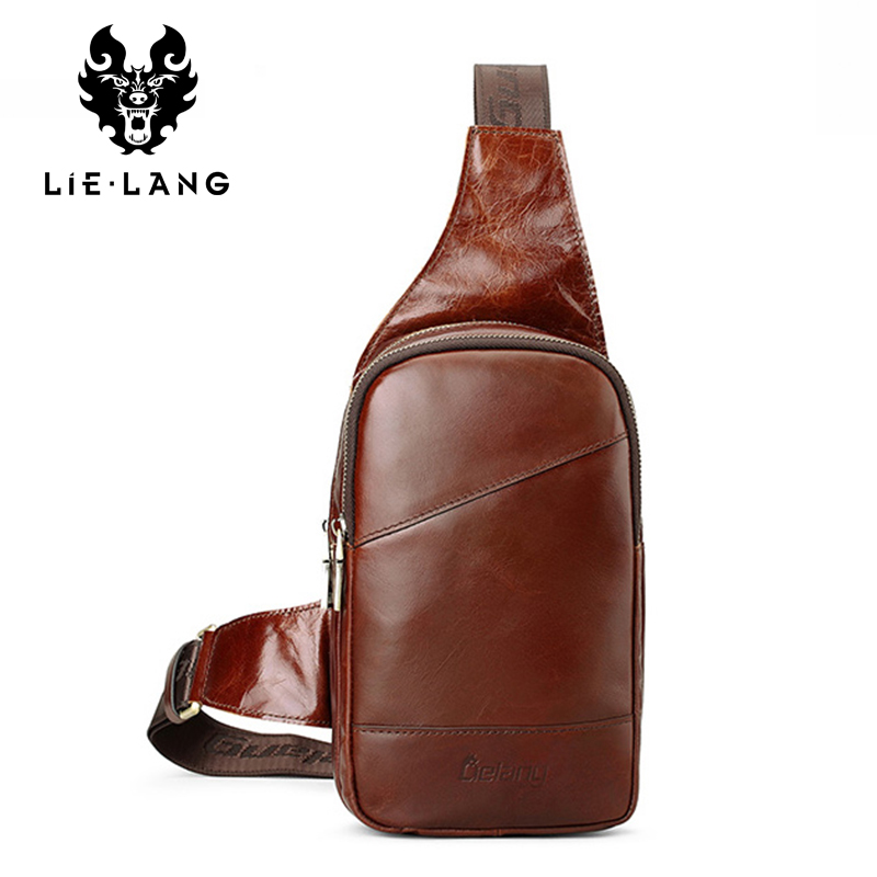 LIELANG 2017 New Hot Genuine Leather Men Shoulder Bag Fashion Casual Messenger Bags Crossbody Bag Casual Chest Pack Mens Bags bullcaptain new arrival men chest bag genuine leather men bag brand designer leather messenger bags casual mens crossbody bags