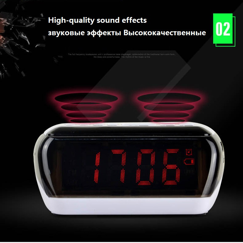 Mini Portable Dual Alarm Clock Bluetooth Stereo Speaker LCD Digital FM Radio Bluetooth Wireless Speaker Support TF For Computer (9)