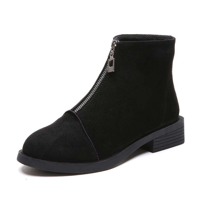 63931c3ebfb8 2019 HOT Back Zipper Black Ankle Boots For Women Warm Insole Women ...
