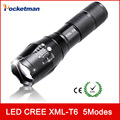 zk93 3800Lumens E17 CREE XM-L T6 cree led Torch Zoomable cree LED Flashlight Torch light For 3xAAA or 1x18650 Free shipping