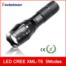 zk93 3800Lumens E17 CREE XM-L T6 cree led Torch Zoomable cree LED Flashlight Torch light For 3xAAA or 1×18650 Free shipping