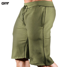 GITF Mens Gym Fitness Shorts Bodybuilding Run Jogging Workout Male 2019 Short Pants Knee Length Sweatpants Sportswear