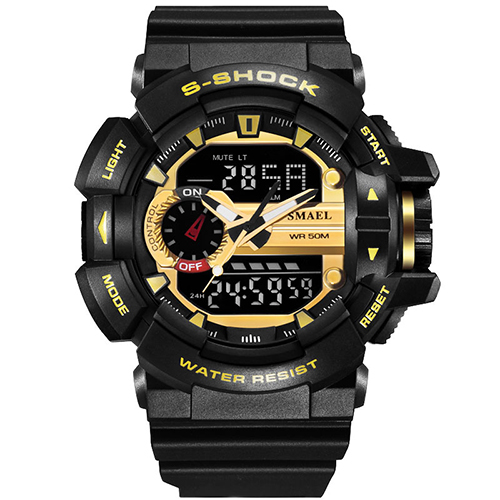 10 PCS Waterproof 50 Meters Sport Digital Watches Swimming Diving Wristwatch New Brand Analog Men Watch LED montre homme