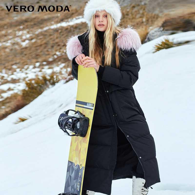 Vero Moda женский зимний пуховик из меха енота | 318412526