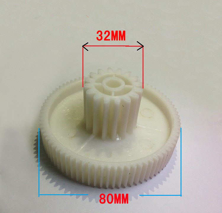 high quality meat grinder parts plastic gear 80*32 mm plastic gears VITEK spare parts for meat grinders free shipping 0 5m gear 0 5m plastic gears pom 0 5m 24t stepped gears hole 3mm 4mm 5mm 6mm meat grinder parts etc