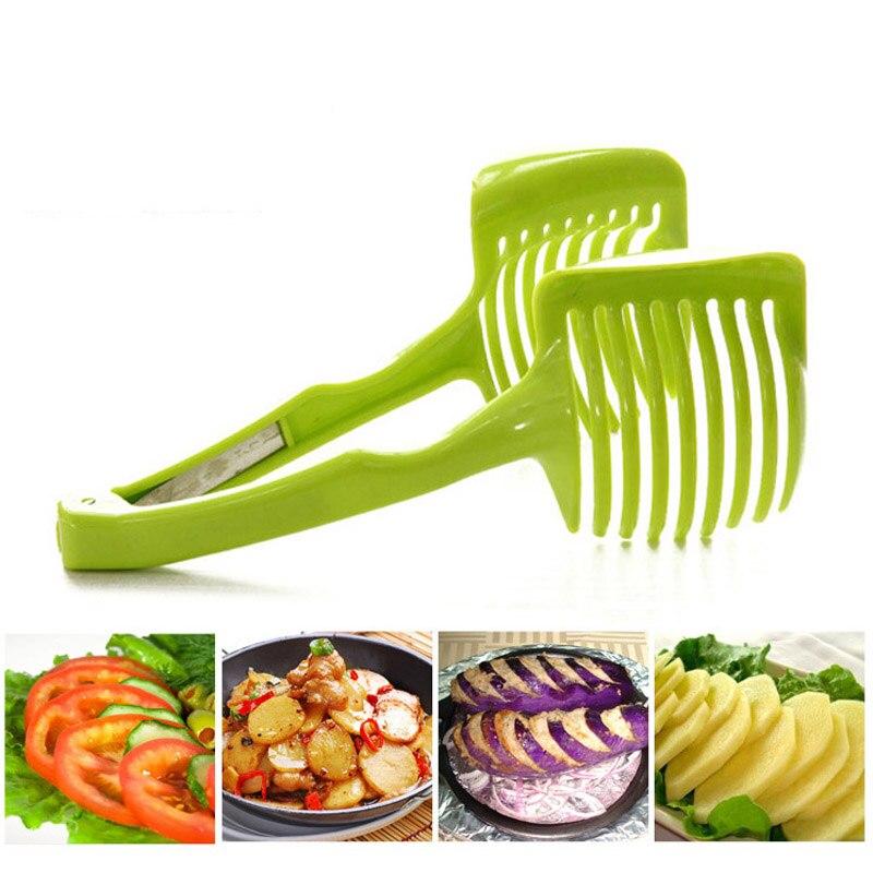 Tomato Slicer ABS Plastic Cutter Slicer Kitchen Gadgets Lemon Orange Fruit Knife