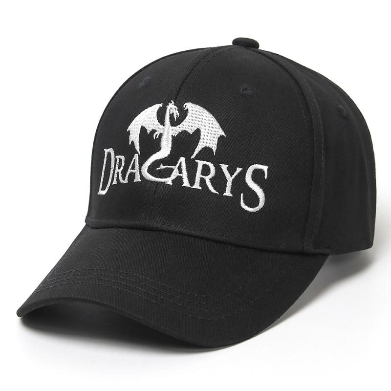 Dracarys Black   Baseball     Cap   Men Women Game Of The Thrones Snapback Trucker   Cap   Embroidery Dad Hat   Caps   Summer Hip Hop   Cap   Bone