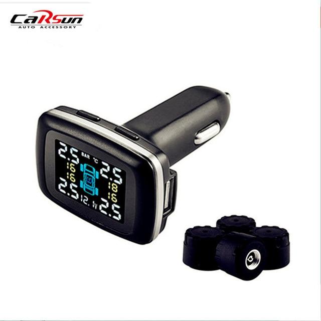 CARSUN Tpms  Car Tire Pressure Alarm External Diagnostic-tool Support Bar And PSI Tire Pressure Monitor Car Electronics