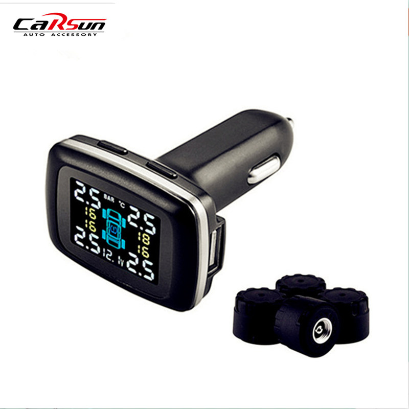 CARSUN Tpms alarme de pression des pneus de voiture outil de Diagnostic externe barre de Support et PSI moniteur de pression des pneus électronique de voiture