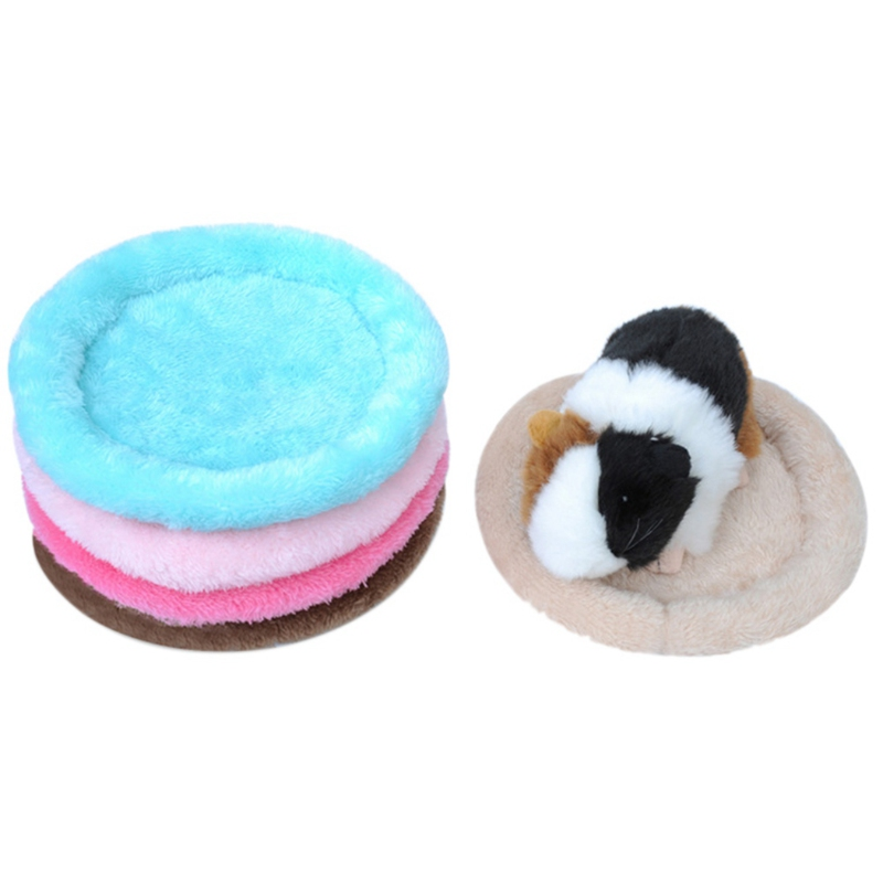 Soft Cashmere Hamster Sleeping Bed Hedgehog Chinchilla Ferret Carrier Guinea Pig Bed Winter Small Animal Cage Mat