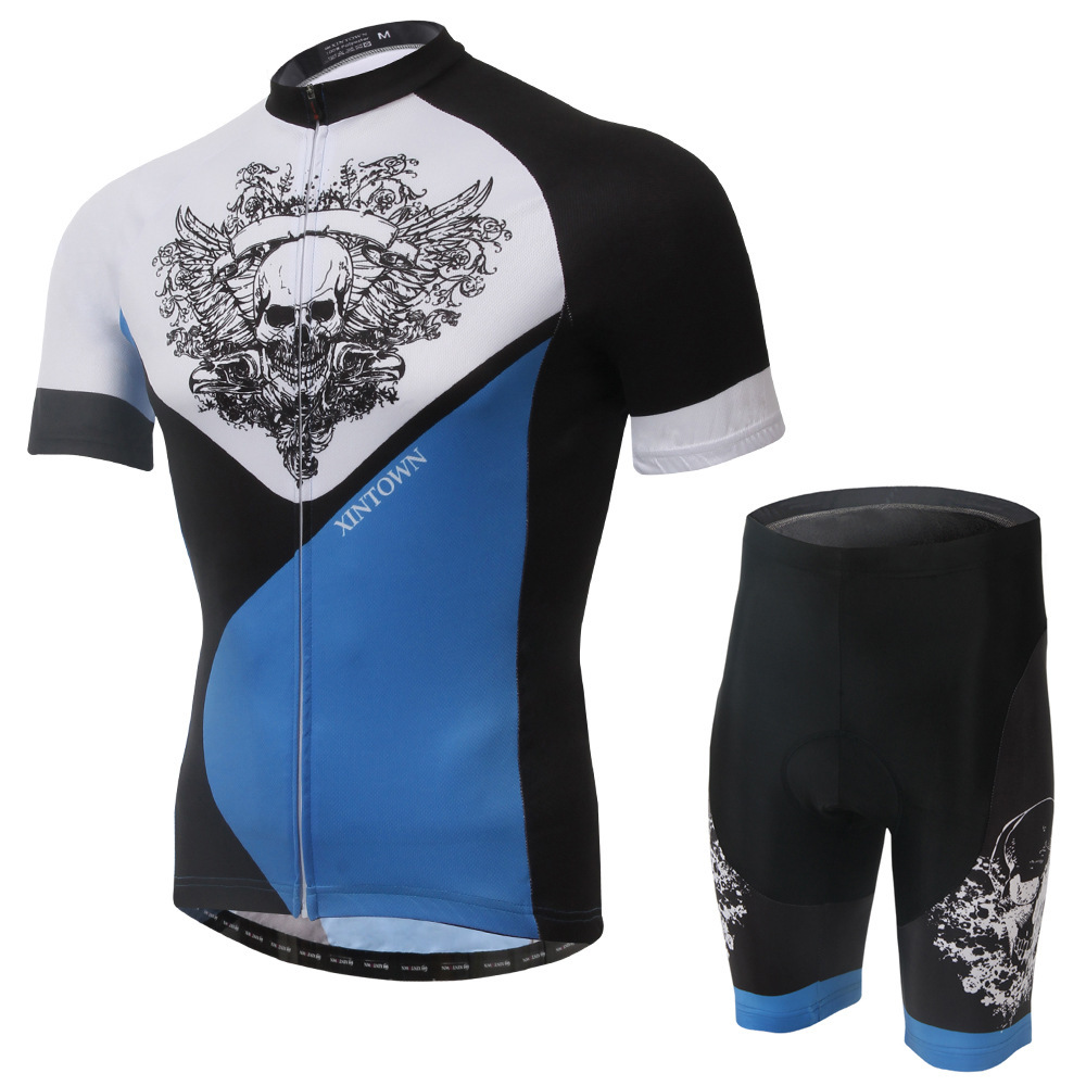 XINTOWN Skull 2016 Cycling Jersey Men's Short Sleeve GEL Breathable Pad Mtb Bicycle Cycling Clothing Bike Wear Shirts Outdoor pirate skull cycling clothing cycling wear cycling jersey short sleeve clothing
