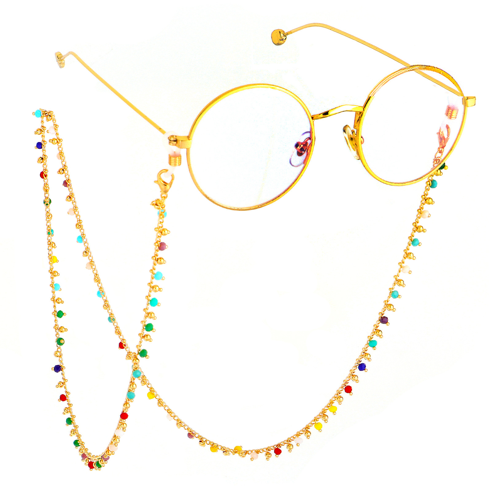 Colorful Acrylic Beads Sunglasses Spectacle Chains Women Reading Glasses Cord Holder Neck Strap Rope for Eyewear Accessories