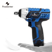 PROSTORMER 12V 100NM Electric Wrench Cordless Brushless Portable Impact Wrench Lithium Battery Rechargeable Power Power Tool