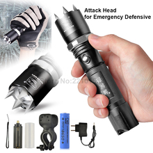 все цены на camping outdoor lighting Portable led emergency flashlight torch zoomable Tactical attacker riding flashlights strong waterproof онлайн