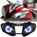 New HID White Angel Blue Demon Eyes Projector Headlight For Yamaha YZF R6 2006-2007 Free Shipping