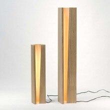 В японском стиле Массив дерева украшения торшеры постоянного staande лампа led nordic торшеры MING