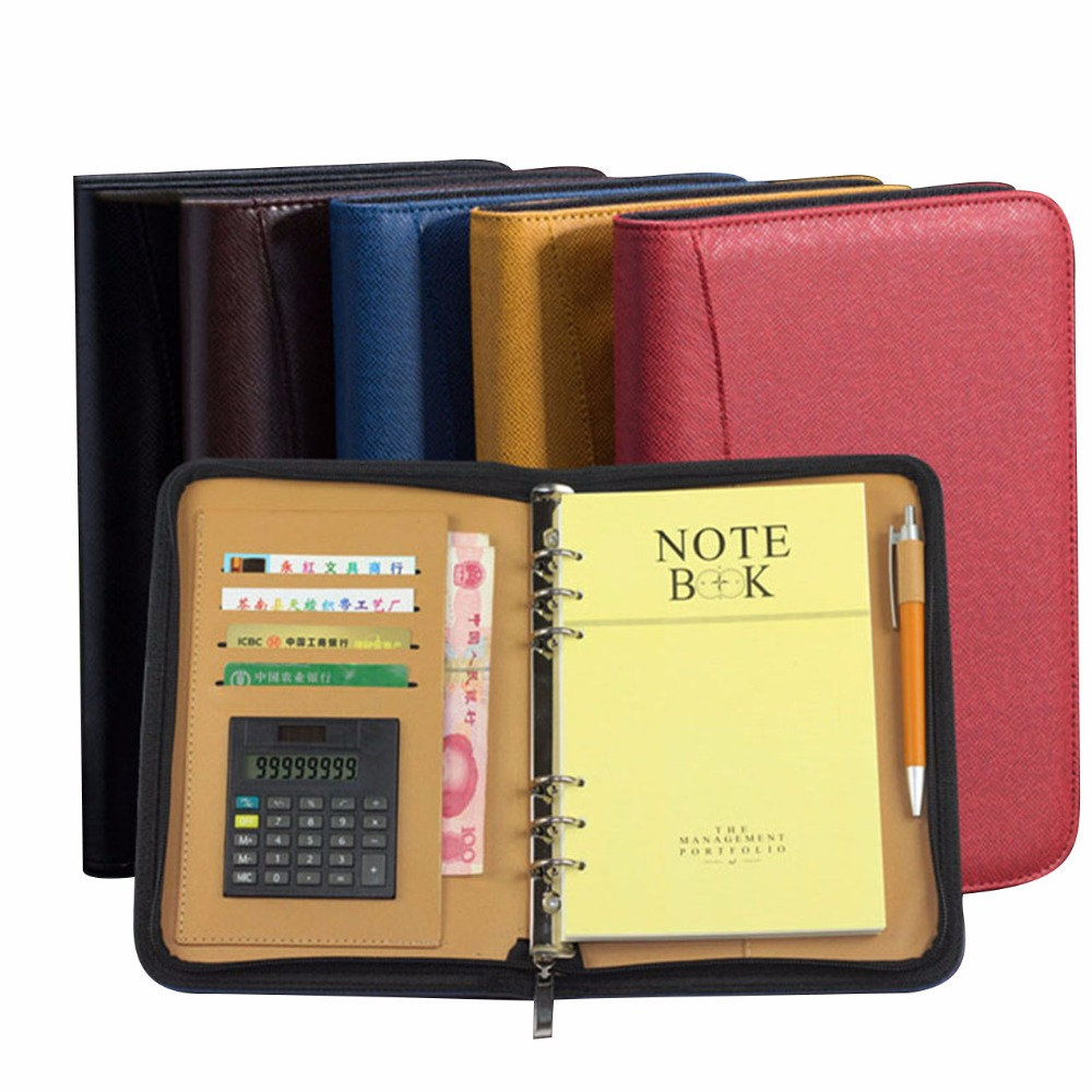 A5 A6 B5 Faux Leather Notebook Spiral Personal Dairy Planner Organizer Notepad Travel Agenda Manager Padfolio Folder CalculatorA5 A6 B5 Faux Leather Notebook Spiral Personal Dairy Planner Organizer Notepad Travel Agenda Manager Padfolio Folder Calculator