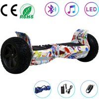 Hoverboard 8.5 Inch Electric Scooter White All terrain Self Balancing Scooter 2 Wheels Balance Board Off road Bluetooth+Key+Bag