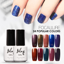 Bling Nail Polish 6ml UV Led Soak off Fashion Dark Color Series Nail Gel Lacquer For Nail Art
