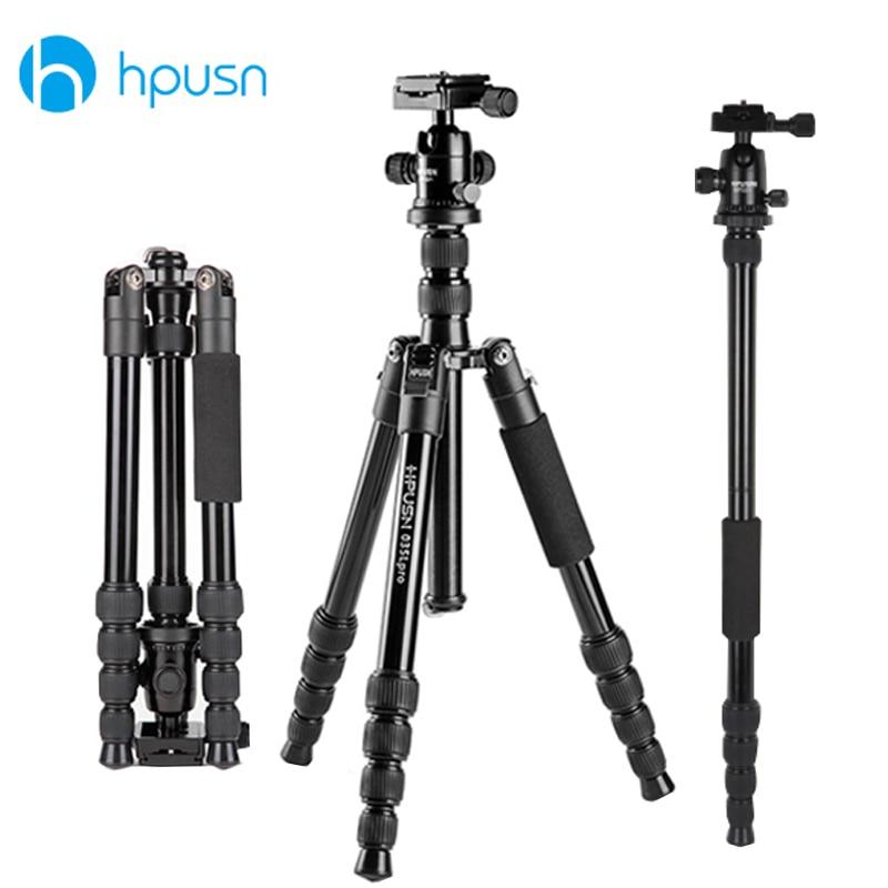 Hpusn Professional Photo Video Camera Aluminum Tripod 153cm 60 24 Tripods Monopod with Metal Ball head