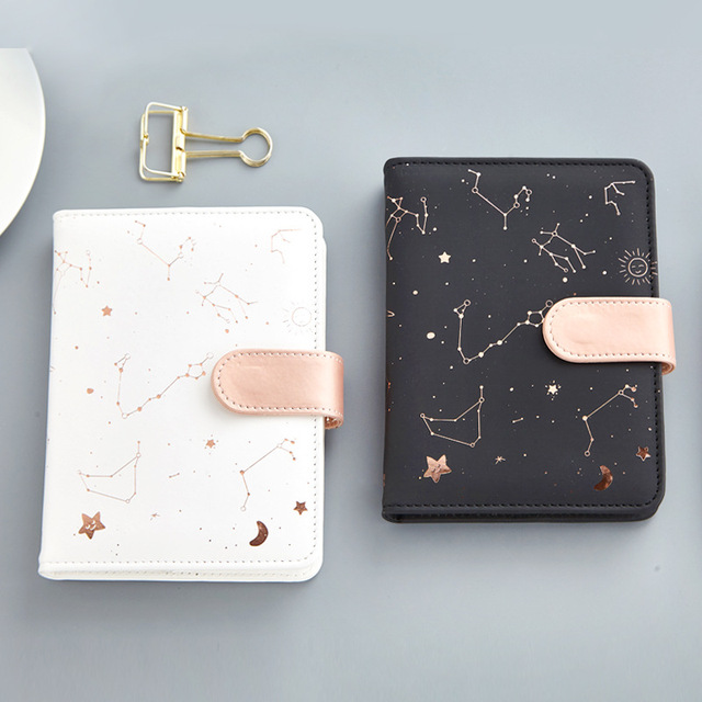 Cuaderno de constelaciones de JUGAL cubierta de Pu agenda diario semanal planificador cuaderno escuela Oficina suministros Kawaii papelería