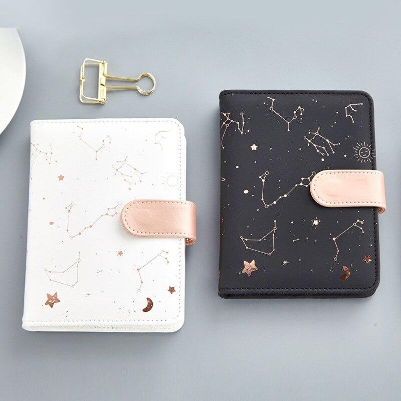 Cuaderno de constelaciones yugal Pu cubierta agenda libro diario semanal planificador cuaderno escolar Oficina suministros Kawaii papelería