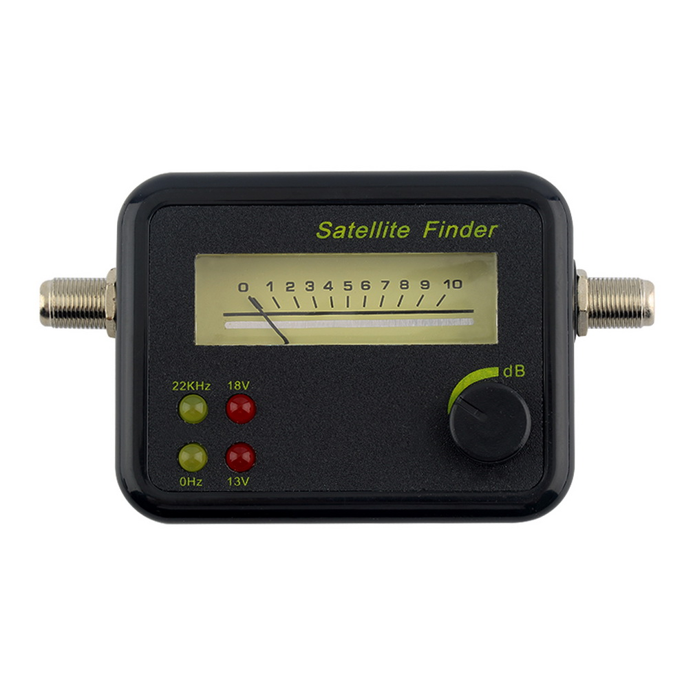 Plastic Black Mini Digital LCD Display Satellite Signal Finder Meter Tester With Excellent Sensitivity gt sf9507 2 2 lcd 950 2150mhz mini digital satellite finder w compass blue silver grey