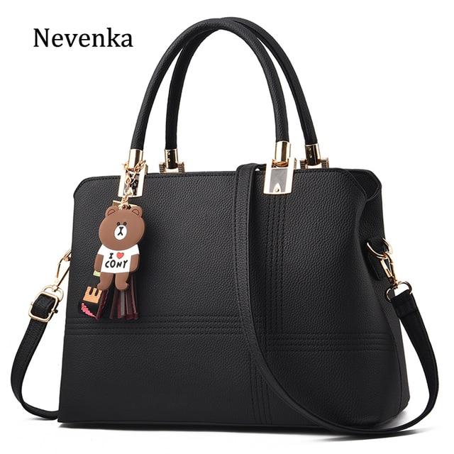 95ac2512358 US $20.78 49% OFF|Nevenka Leather Handbag Women Bags 2018 Designer Shoulder  Bag Female Luxury Handbags for Girls Large Crossbody Bag with Tassel-in ...