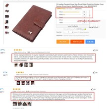 PU Leather Passport Cover Men Travel Wallet Credit Card Holder Cover  Russian Driver License Wallet Document Case –BIH009 PM20