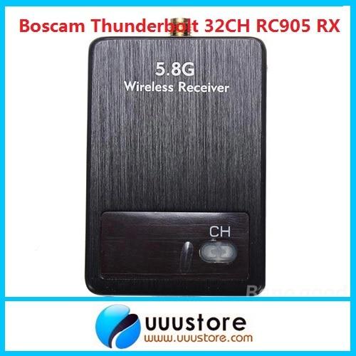 Boscam Thunderbolt 5.8G 32CH RC905 Wireless audio video AV Receiver Rx boscam rc32s 5 8g 32ch wireless video audio auto scan fpv av receiver rx