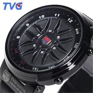 Top Brand TVG Watches Men Creative Design Car Roulette Fashion Binary Led Digital Watch Men Sports Watches relogio masculino