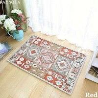 Mediterranean Geometric Capet Room Living Room Bed Blanket Creative Retro Bedroom Floor MATS Anti Skid Pads