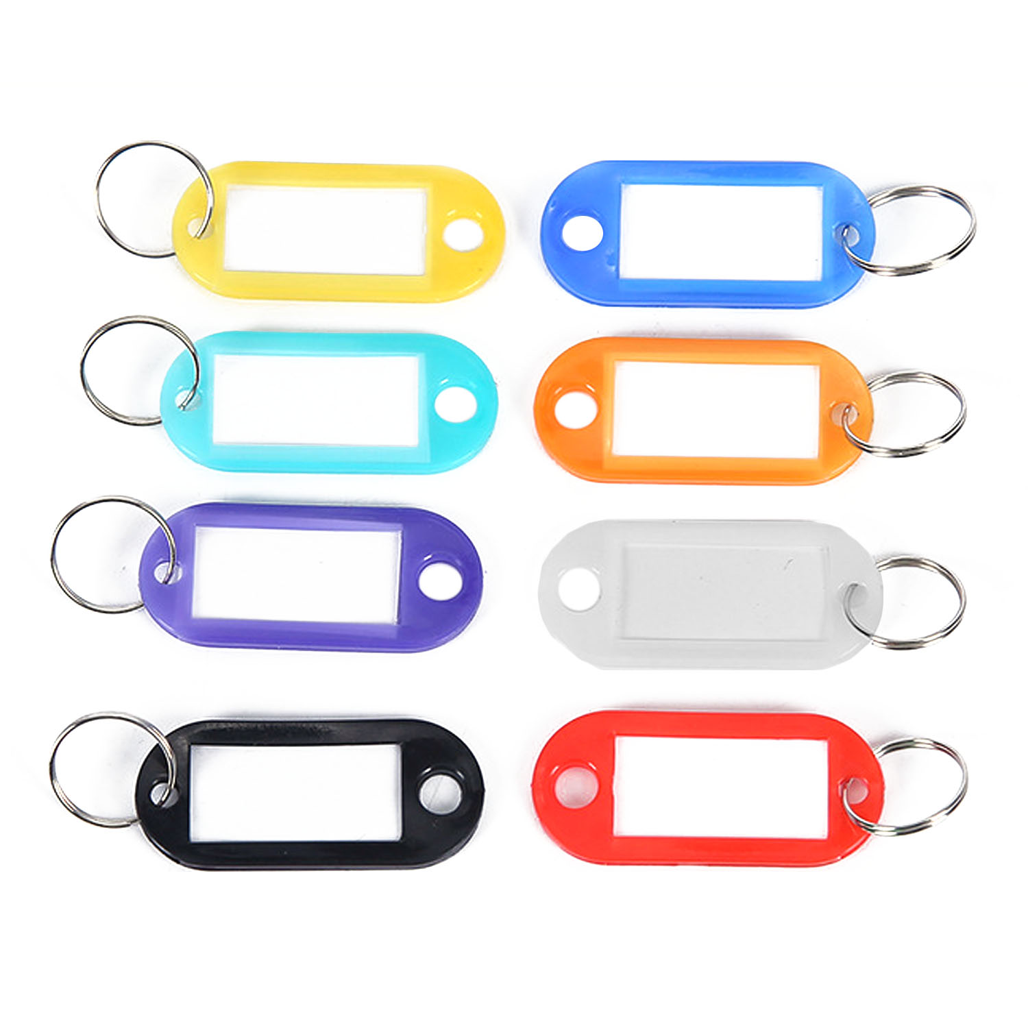 Tips Beli 100 Pcs Keychain Nameplate Id Luggage Tag Label Dengan Gantungan Kunci Warna Acak Intl